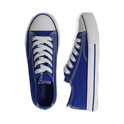 Sneakers blu in canvas, Scarpe, 137300862CABLUE036, 003 preview