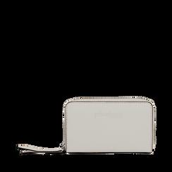 Portafoglio compatto bianco in eco-pelle, Borse, 133731344EPBIANUNI, 001a