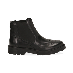 Chelsea boots en cuir noir, Promozioni, 167723704PENERO036, 001 preview