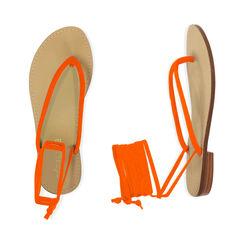 Sandali lace-up arancio in lycra, Primadonna, 174982380LYARAN035, 003 preview