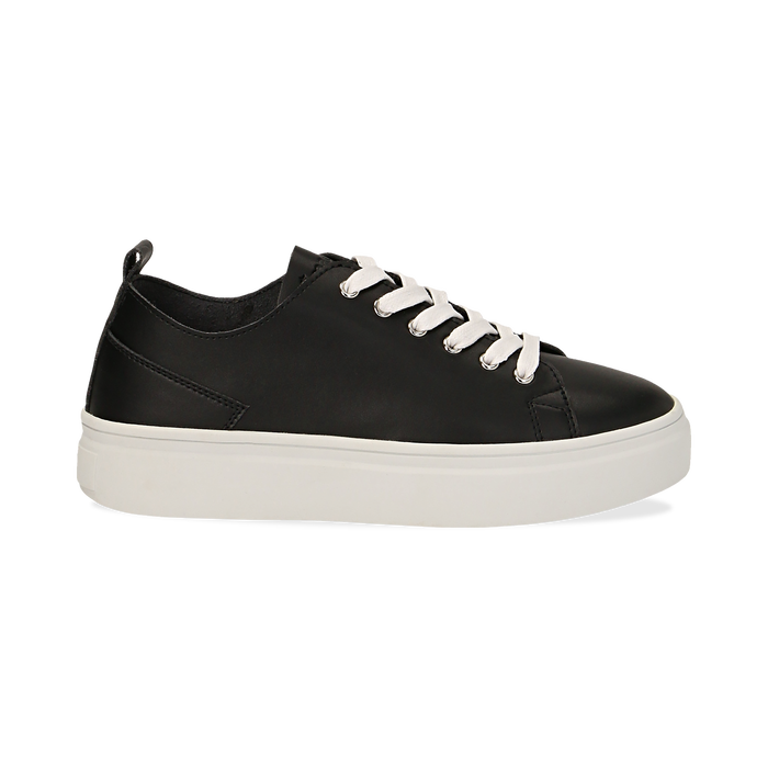 Sneakers nere in eco-pelle, Scarpe, 132500778EPNERO036
