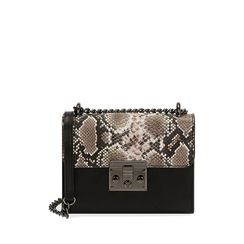 Borsa piccola bianco/nera stampa pitone, Primadonna, 165122371PTBINEUNI, 001a