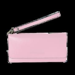 Portafoglio rosa in eco-pelle con laccetto per il polso, Borse, 133723651EPROSAUNI, 001 preview