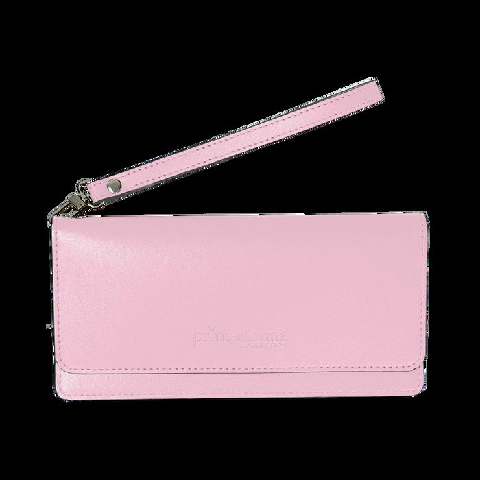 Portafoglio rosa in eco-pelle con laccetto per il polso, Borse, 133723651EPROSAUNI