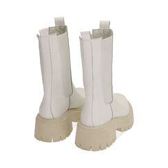 Bikers gruesas de piel en blanco, tacón 5 cm, Zapatos, 177277045PEBIAN036, 004 preview