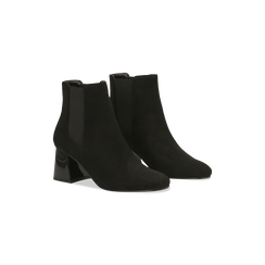 Chelsea Boots Neri Tacco con Largo Alto, Scarpe, 122707127MFNERO, 002 preview