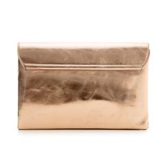 Bustina rosa in eco-pelle, effetto metallizzato , Borse, 113308136LMROSAUNI, 003 preview