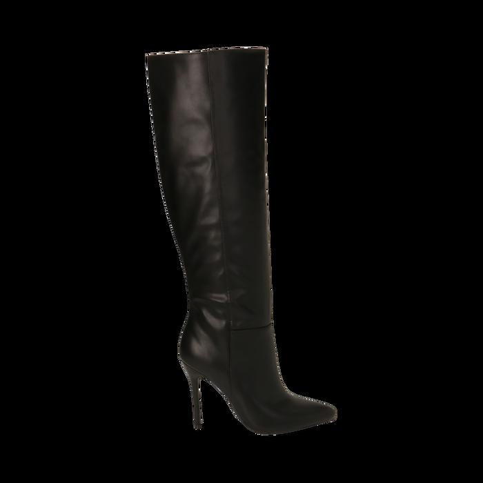 Stivali neri, tacco 10,50 cm , Primadonna, 162146862EPNERO038