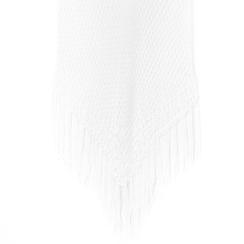 Mini-dress bianco con lavorazione macramè, Primadonna, 13A345075TSBIANUNI, 002a