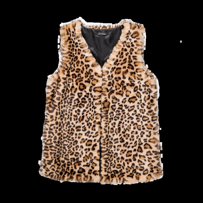 Smanicato di Pelliccia Leopardata, Abbigliamento, 12B400303FULEOP