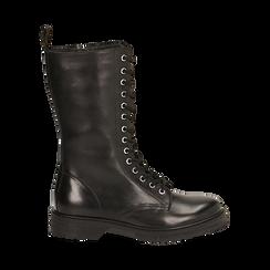 Botas militares de piel en color negro, Primadonna, 167710810PENERO036, 001 preview