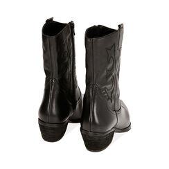 Camperos en cuir noir, talon de 4,5 cm, Primadonna, 17B810809PENERO035, 004 preview