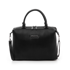 Borsa media nera in eco-pelle, Borse, 14D902917EPNEROUNI, 001 preview