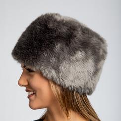 Colbacco  grigio in eco-pelliccia, Saldi Abbigliamento, 12B413001FUGRIGXXL, 003 preview