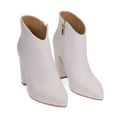 Ankle boots bianchi, tacco 9,5 cm , Chaussures, 174916101EPBIAN035, 002a