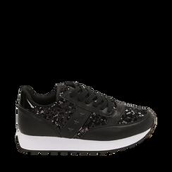 Sneakers noires avec paillettes, Primadonna, 162619079PLNERO035, 001a