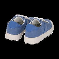 Sneakers azzurre in microfibra, Scarpe, 152619072MFAZZU035, 004 preview
