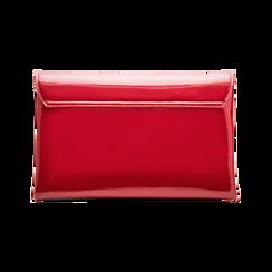 Pochette bustina bordeaux in ecopelle vernice, Borse, 123308136VEBORDUNI, 002 preview