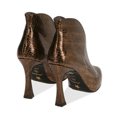 Ankle boots bronzo laminato, tacco 9,5 cm , Primadonna, 165200231LMBRON035, 004 preview