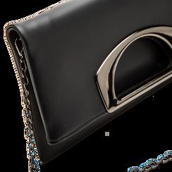 Pochette nera in ecopelle, Borse, 123306750EPNEROUNI, 003 preview