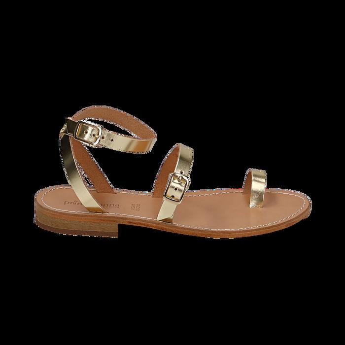 Sandali oro laminato, Scarpe, 158100570LMOROG036