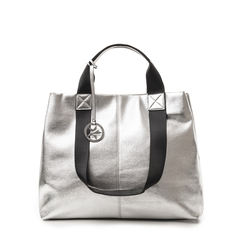 Maxi-bag argento in laminato, 132384211LMARGEUNI, 001a