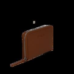 Portafoglio cuoio in eco-pelle a tre scomparti, Borse, 133723501EPCUOIUNI, 002a