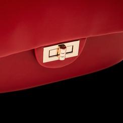 Borsa a tracolla rossa in ecopelle con apertura a girello, Saldi, 123308833EPROSSUNI, 004 preview