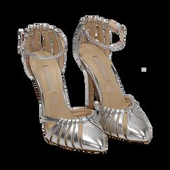 Escarpins argenté brillant avec sangle, talon 11 cm , Chaussures, 152168657LMARGE039, 002 preview