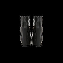 Tronchetti neri con plateau, tacco 13,5 cm, Scarpe, 122138410EPNERO, 003 preview