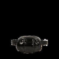 Marsupio nero in vernice, IDEE REGALO, 165108872VENEROUNI, 001a