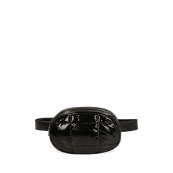 Sac banane en vernis noir, IDEE REGALO, 165108872VENEROUNI, 001a