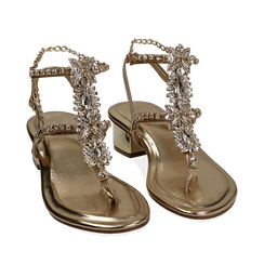 WOMEN SHOES SANDAL LAMINATED OROG, Chaussures, 154927101LMOROG035, 002a