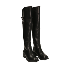 Stivali overknee neri, tacco 4 cm , Primadonna, 160621687EPNERO035, 002a