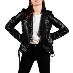 Biker jacket nera stampa pitone, Primadonna, 156501164PTNEROL, 001 preview