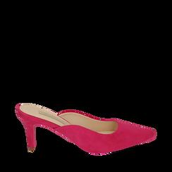CALZATURA SABOT MICROFIBRA FUCS, Zapatos, 152133675MFFUCS037, 001a