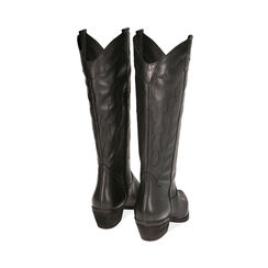 Camperos neri in pelle, tacco 5,5 cm , Primadonna, 17B810805PENERO035, 003 preview
