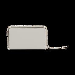 Portafoglio compatto bianco in eco-pelle, Borse, 133731344EPBIANUNI, 004 preview