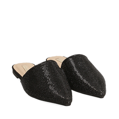 WOMEN SHOES SABOT MICROFIBER STONES NERO, Zapatos, 154921861MPNERO036, 002a