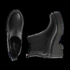 Chelsea boots neri, tacco 6 cm, Primadonna, 162808601EPNERO035, 003 preview