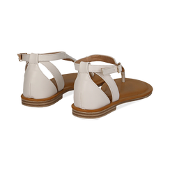 Sandali infradito bianchi in eco-pelle, Primadonna, 134958215EPBIAN035, 004 preview