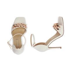 Sandali bianchi con catena, tacco 10,5 cm , Primadonna, 172114211EPBIAN036, 003 preview