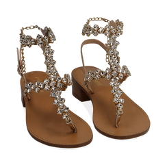 WOMEN SHOES SANDAL LAMINATED OROG, Chaussures, 154989170LMOROG035, 002a