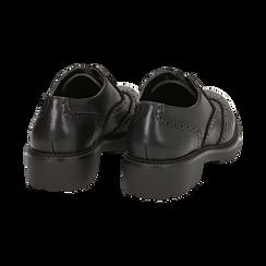 Stringate nere in eco-pelle con lavorazione Duilio, Scarpe, 140585751EPNERO035, 004 preview