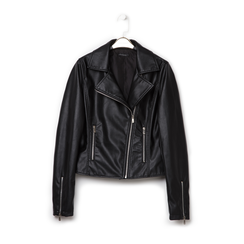 Biker jacket nera in eco-pelle, Primadonna, 136501161EPNEROL, 001a