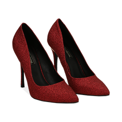 Décolleté rosse in glitter, tacco 11 cm , Primadonna, 142146861GLROSS036, 002 preview