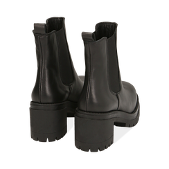 Chelsea boots neri in pelle di vitello, tacco 7,5 cm , Primadonna, 168900643VINERO038, 004 preview
