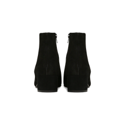 Tronchetti neri a punta, con tacco medio 4,5 cm, Primadonna, 127242325CMNERO, 003 preview