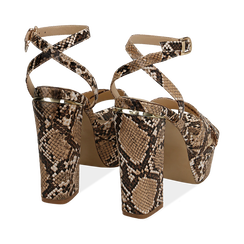 WOMEN SHOES SANDAL EP-PYTHON BEIG, Chaussures, 152133001PTBEIG, 004 preview