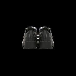 Francesine con borchie nere e tacco basso, Scarpe, 120603901EPNERO, 003 preview